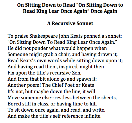 how to write a sonnet for kids